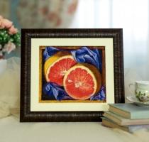 Вышитая картина Грейпфрут