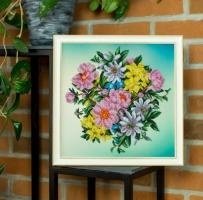 Вышитая картина Садовые цветы